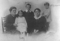 Roland French, his wife and children.