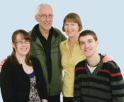 Our Minister and his family - click for a larger picture.